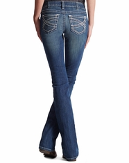 Ariat Women's Mid Rise Boot Real Riding Jeans - Marine