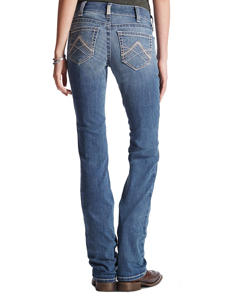 Ariat Women's Mid Rise Straight Real Riding Jeans