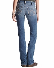 Ariat Women's Mid Rise Straight Real Riding Jeans - Rainstorm