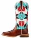 Ariat Women's Mirada Square Toe Boots - Brown/Blue Print (Closeout)