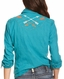 Ariat Women's Orchid Long Sleeve Embroidered Snap Shirt - Biscay Blue (Closeout)