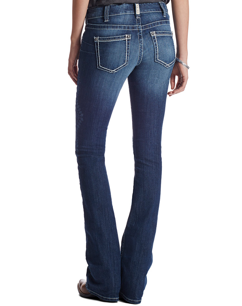 Ariat Women's Real Low Rise Flare Jeans - Baltic (Closeout)