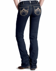 Ariat Women's Real Mid Rise Boot Cut Chainlink Jeans - Eclipse