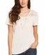 Ariat Women's Roma Short Sleeve Lace Top - Pink