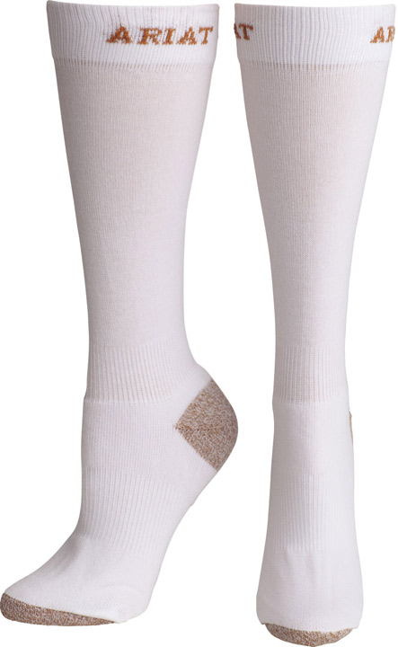 Ariat Women's Slim Sport Socks - White