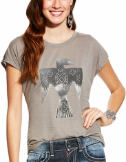 Ariat Women's Sparky Short Sleeve Print Tee Shirt - Grey