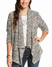 Ariat Women's Swell Long Sleeve Print Open Front Cardigan - Multi