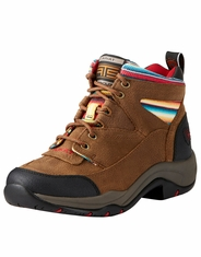 Ariat Women's Terrain Round Toe Lace-Up Shoes - Brown/Serape