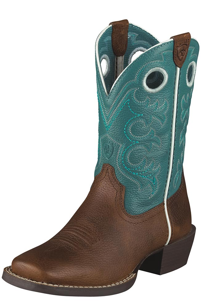 Youth Crossfire Kids Boots - Brown/Turquoise