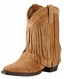 Ariat Youth Gold Rush Snip Toe Boots - Rustic Bark/Chestnut