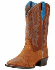 Ariat Youth Outrider Square Toe Boots - Grizzly Oak/Wood (Closeout)