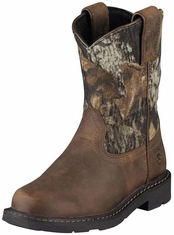 Ariat Youth Sierra Cowboy Boots - Distressed Brown/ Camo (Closeout)