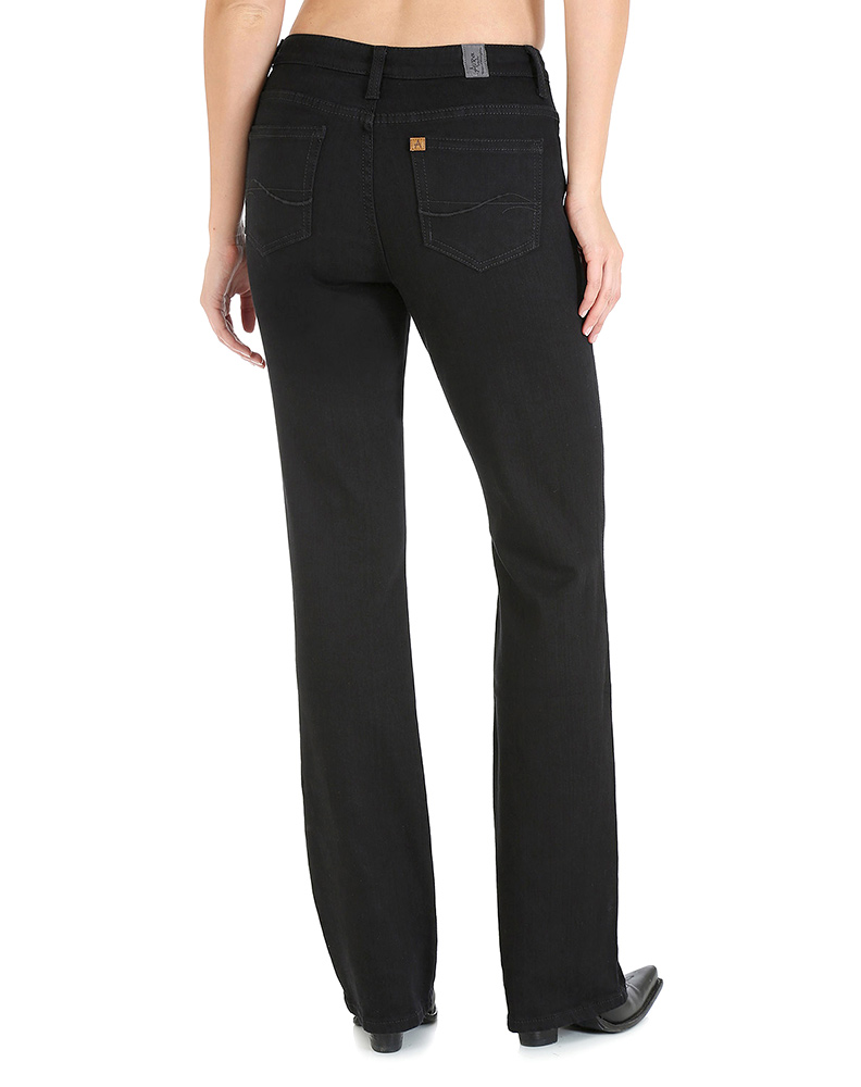 Aura from the Women at Wrangler ™ - Overdyed Black Jeans (Regular Rise)