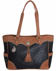 Bandana by American West Women's Breckenridge Tote Bag - Black/Tan (Closeout)