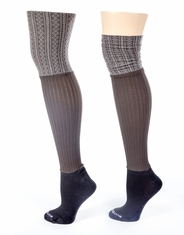 Bootights Women's Ellevators Boot Socks - Chocolate