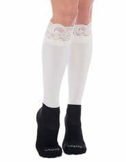 Bootights Women's Lacie Lace Boot Socks - Cream