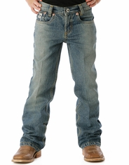 Cinch Boy's Low Rise Jean (Sizes 4-7) - Meduim Stonewash