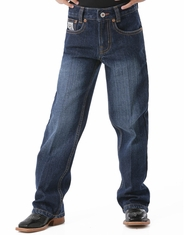 Cinch Boy's White Label Jeans (Sizes 4-7) - Dark Stonewash