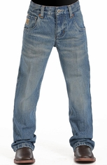 Cinch Boys Tanner Relaxed Fit Boot Cut Jeans (sizes 8-18) - Stonewash (Closeout)