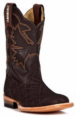 Cinch Kids Elephant Print Square Toe Cowboy Boots - Chocolate (Closeout)