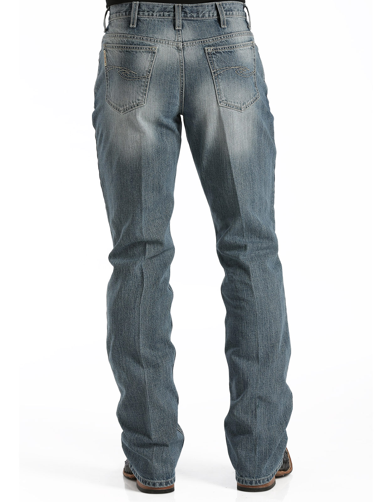 Cinch Men's Dooley Mid Rise Relaxed Fit Boot Cut Jeans - Medium Stonewash