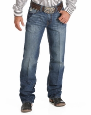 Cinch Men's Grant Mid Rise Relaxed Boot Cut Jean - Medium Stonewash (Closeout)