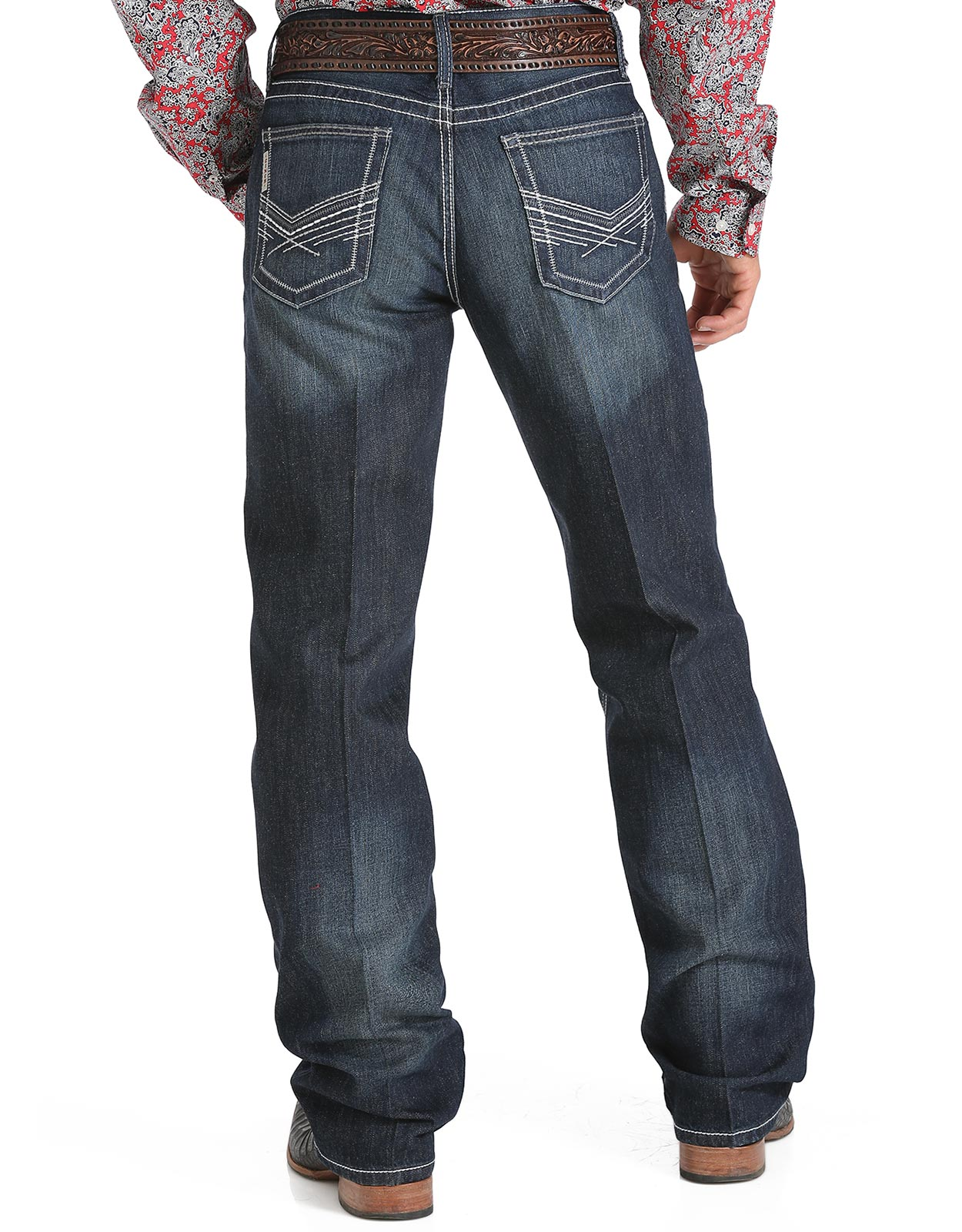 Cinch Men's Grant Mid Rise Relaxed Fit Boot Cut Jeans - Rinse