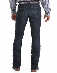 Cinch Men's Ian Mid Rise Slim Fit Boot Cut Jeans - Dark Stonewash