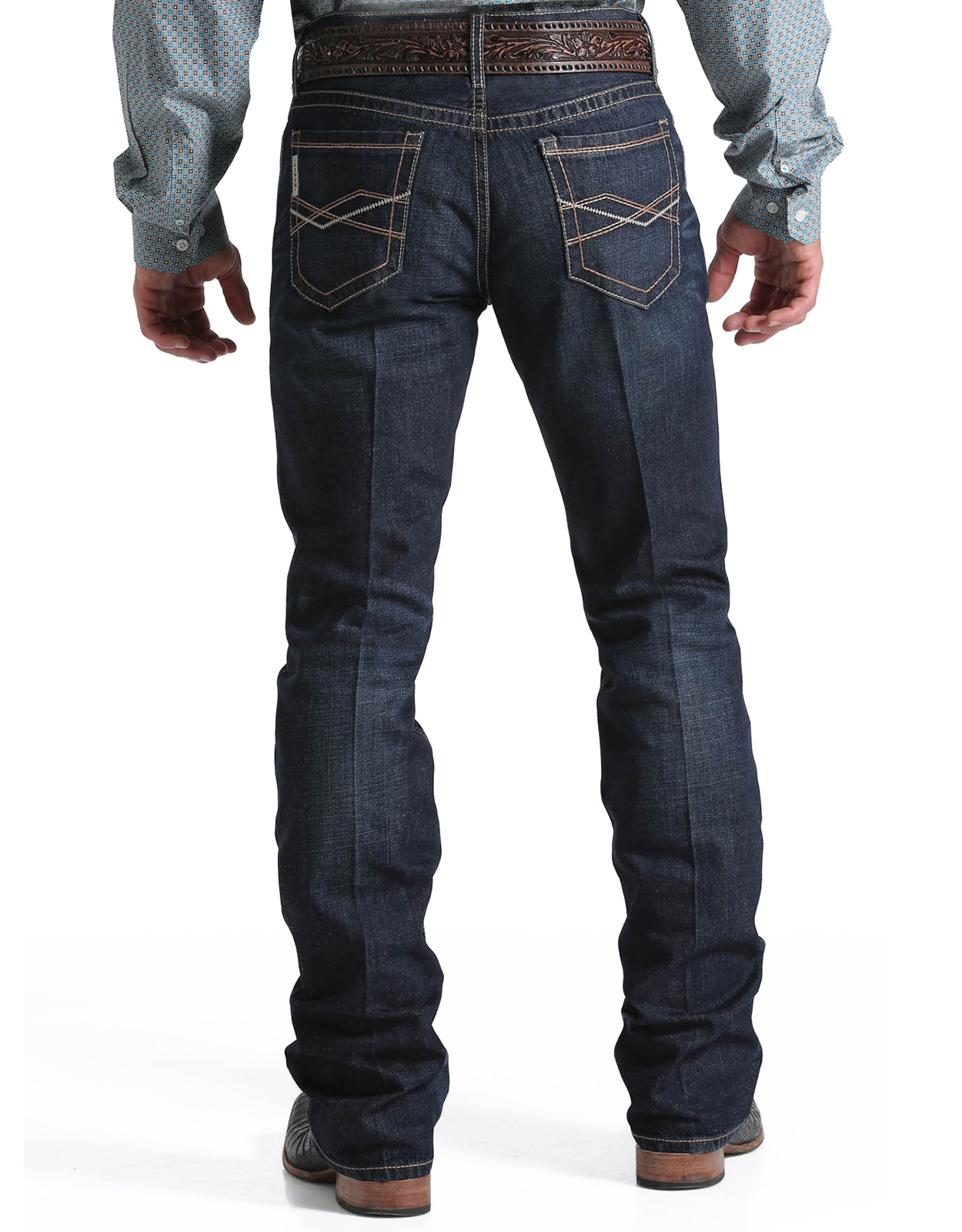 Cinch Menu0026#39;s Ian Mid Rise Slim Fit Boot Cut Jeans - Rinse