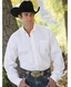 Cinch Men's Long Sleeve Solid Button Down Western Shirt - White