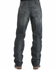 Cinch Men's White Label Mid Rise Relaxed Fit Straight Leg Jeans - Dark Stonewash