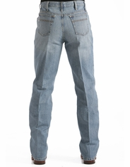 Cinch Men's White Label Mid Rise Relaxed Fit Straight Leg Jeans - Light Stonewash