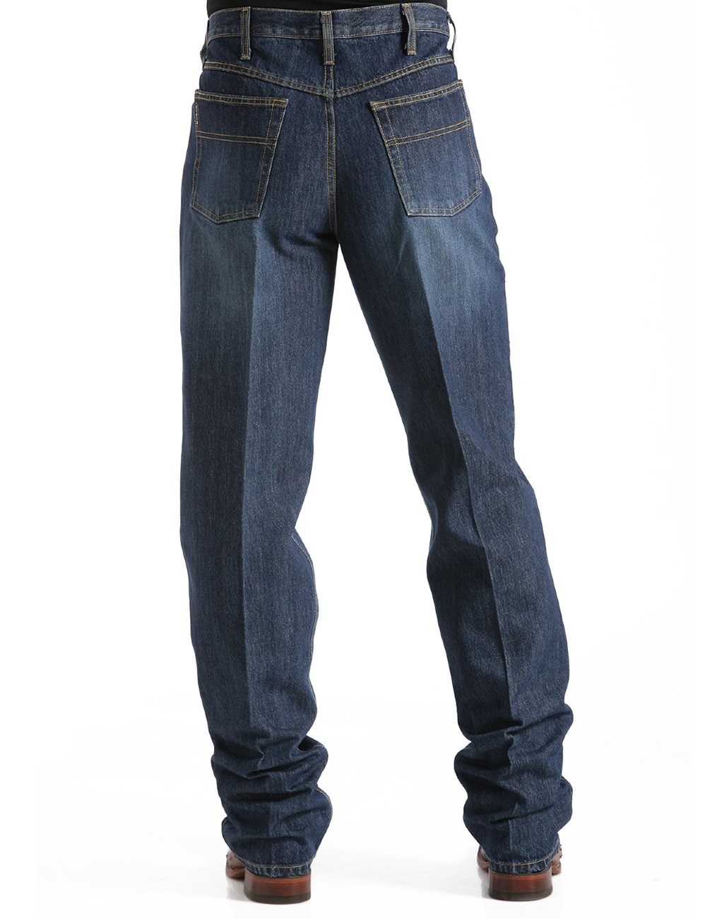 Cinch Men's Black Label High Rise Loose Fit Tapered Leg Jeans - Dark Stonewash