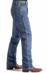 Cinch Men's Green Label Mid Rise Relaxed Fit Tapered Leg Jeans - Dark Stonewash