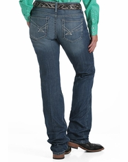Cinch Women's Ada Mid Rise Relaxed Fit Boot Cut Jeans - Medium Stonewash (Closeout)