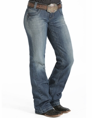 Cinch Women's Bailey Low Rise Relaxed Fit Straight Leg Jeans - Medium Stonewash (Closeout)