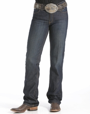 Cinch Women's Jenna Stretch Mid Rise Relaxed Fit Boot Cut Jeans - Rinse