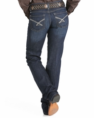 Cinch Women's Kylie Mid Rise Slim Fit Boot Cut Jeans - Dark Stonewash