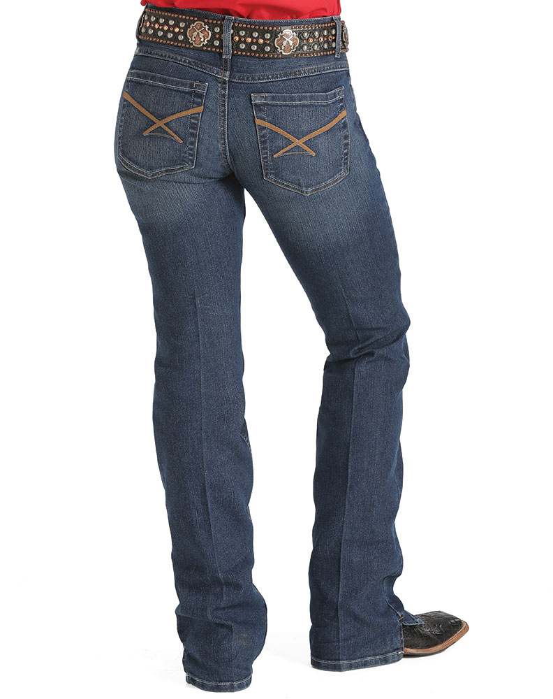 Cinch Womenu0026#39;s Kylie Mid Rise Slim Fit Boot Cut Jeans - Dark Stonewash