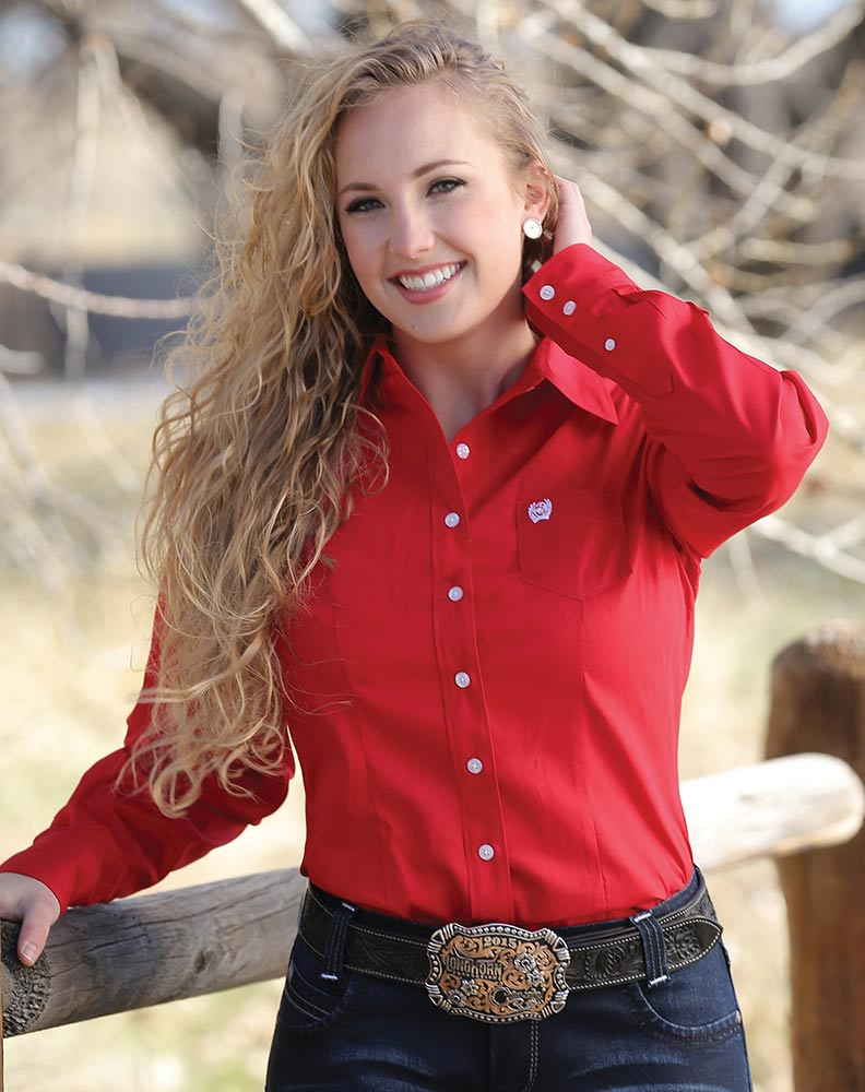 Red Button Up Shirt Womens Custom Shirt