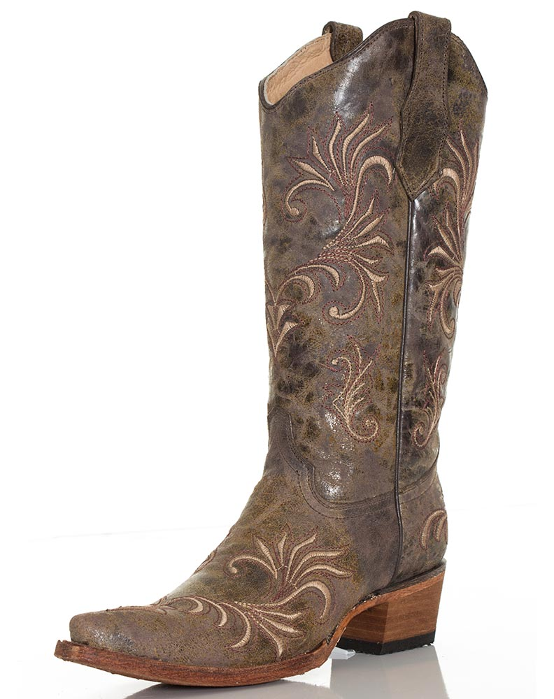 Corral Women's Circle G Filigree Boots - Beige
