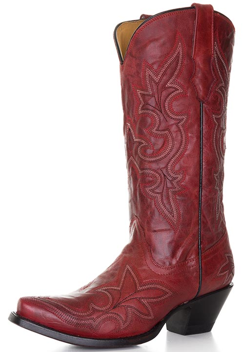 Women's Stitched Boots - Desert Red