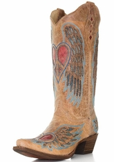Corral Women's Wing & Heart 13