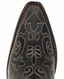 Corral Youth Distressed Black Leather Cowboy Boots with Stitched Overlay Patterns (Closeout)