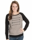 Cowgirl Justice Women's Four Points Raglan Sleeve Top - Ash/Black (Closeout)