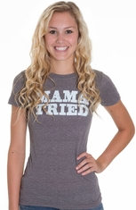 Cowgirl Justice Womens Mama Tried Tee Shirt - Charcoal