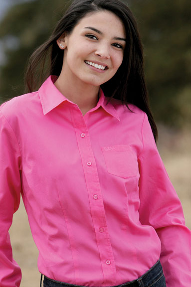Cruel Girl Women 39 S Solid Button Down Shirt Pink On The Hunt