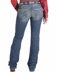 Cruel Women's Abby Mid Rise Slim Boot Cut Jeans - Medium Stonewash