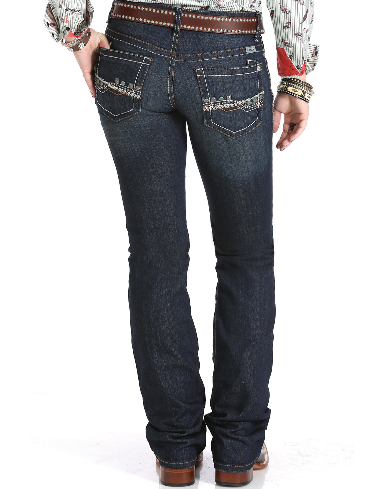 Cruel Womenu0026#39;s Abby Mid Rise Slim Fit Boot Cut Jeans - Rinse