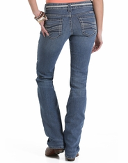 Cruel Women's Blake Low Rise Slim Fit Boot Cut Jeans - Medium Stonewash